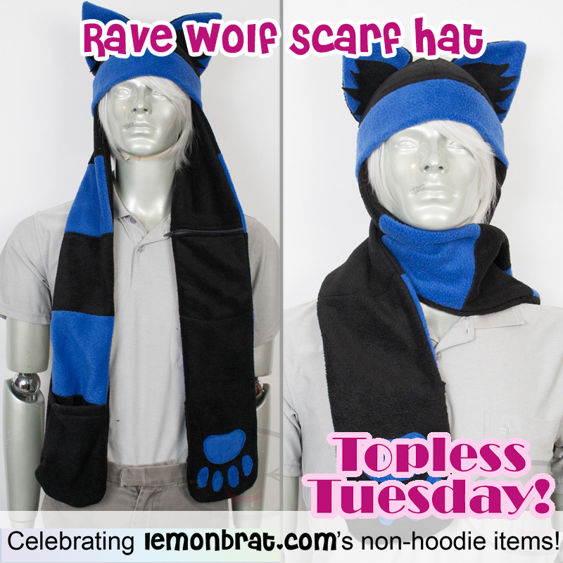 blue rave scarf hat TT